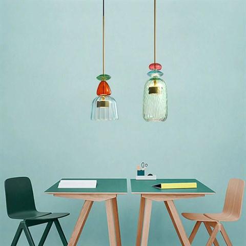 Коллекция дизайнерских светильников Flauti из цветного стекла