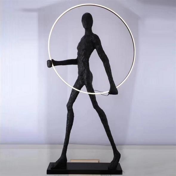Торшер Man carries light circle - фото 10123