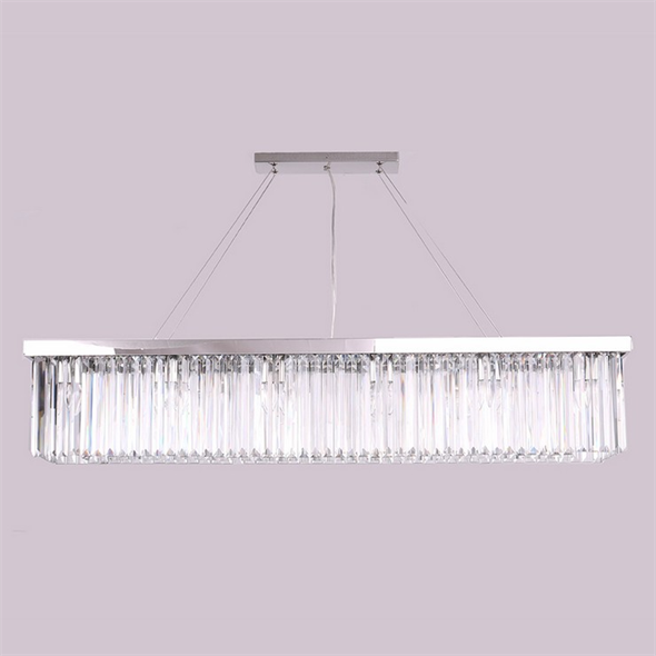 Подвесной светильник New York, Nickel Clear crystal L120*28*H23/223 cm - фото 10187