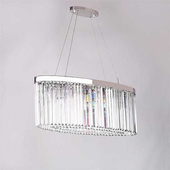 Подвесной светильник New York, Nickel Clear crystal 90*30*H35 cm - фото 10191