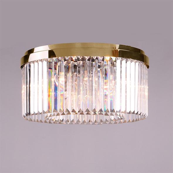 Потолочный светильник New York, Gold Clear crystal D50*H22.5 cm - фото 10197