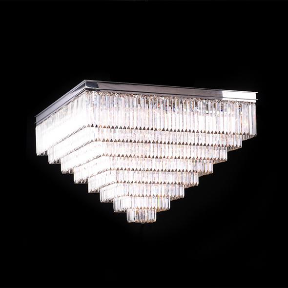 Потолочный светильник Portland, Nickel Clear crystal 110*110*H58 cm - фото 10580