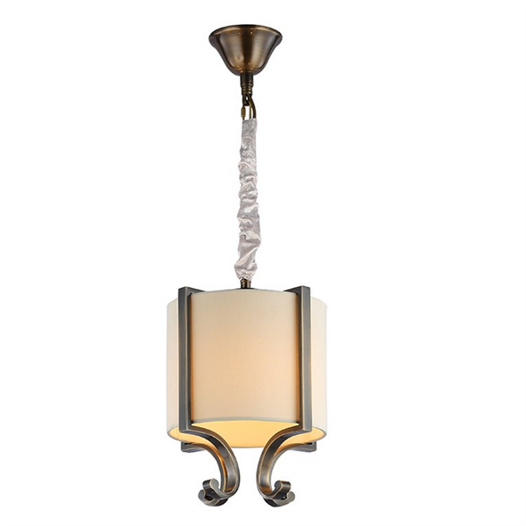 Подвесной светильник Memphis, Black brass Crystal clear Shade beige D22*H31.5 cm - фото 10636