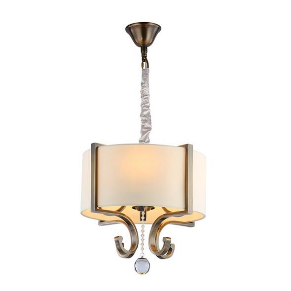 Подвесной светильник Memphis, Black brass Clear crystal Shade beige D40*H44/145 см - фото 10644