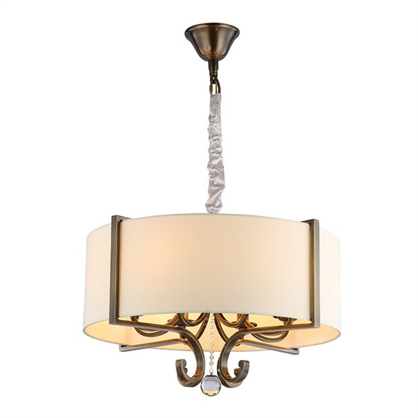 Подвесной светильник Memphis, Black brass Clear crystal Shade beige D64*H43/163 сm - фото 10648
