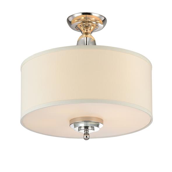 Потолочный светильник Memphis, Nickel Clear crystal Shade beige D70*H43,5 cm - фото 10658