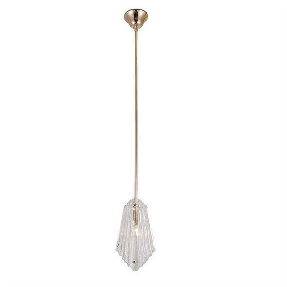 Подвесной светильник Gilbert, Light gold Clear glass L16.5*8*H30 cm - фото 10746