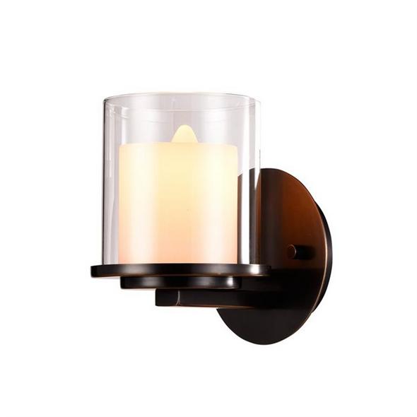 Бра Minneapolis, Black+gold Shade glass L16*H21*Sp19 cm - фото 10751