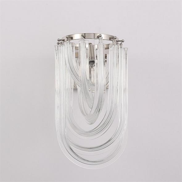 Бра Orlando, Polished nickel Clear glass L20*H35*Sp26 см - фото 11006
