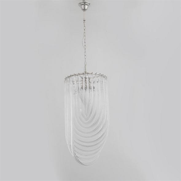 Подвесной светильник Orlando, Polished nickel Clear glass D40*H80 см - фото 11014