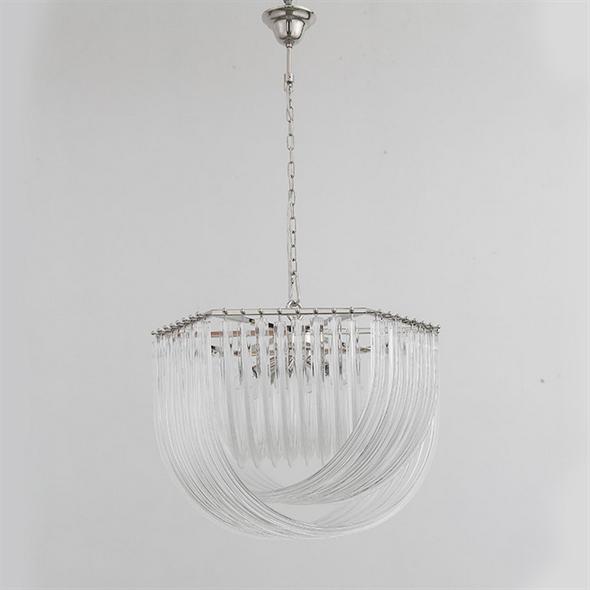 Подвесной светильник Orlando, Polished nickel Clear glass D65*H46 см - фото 11018