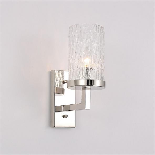 Бра Irvine, Polished nickel Clear glass L11.5*H29.5*Sp20 cm - фото 11023