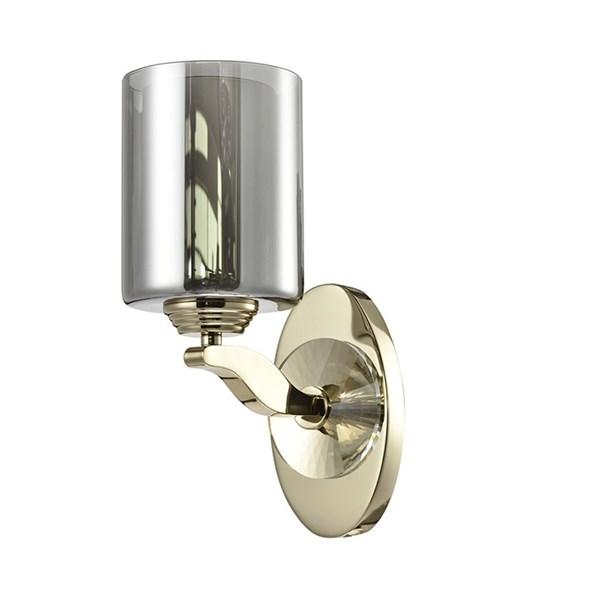Бра Chandler, Gold Glass smoky/matt white L13*H26.3*Sp22.5 cm - фото 11077