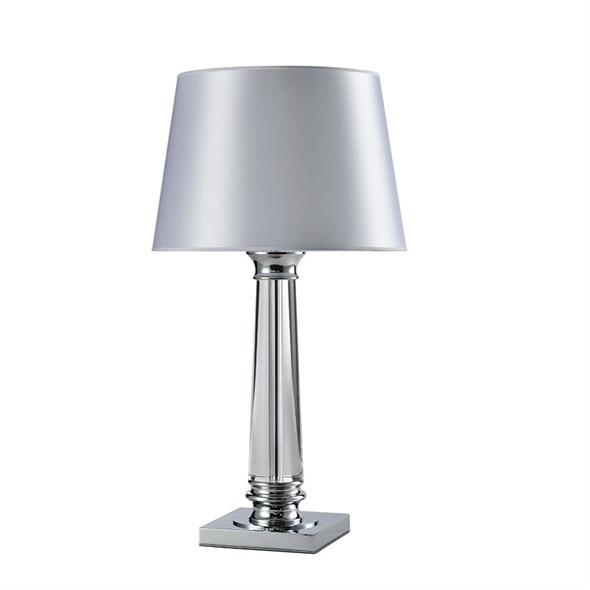 Настольная лампа Chandler, Chrome Glass clear White shade D38*H72 cm - фото 11079