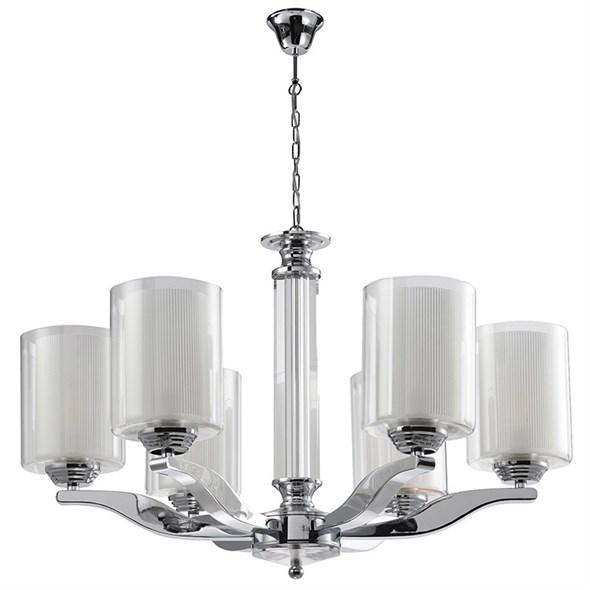 Люстра Chandler, Chrome Glass clear/matt white D59*H40 cm - фото 11081