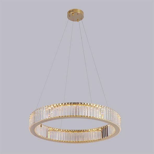 Подвесной светильник Lubbock, Gold Clear glass D62*H12 cm - фото 11107