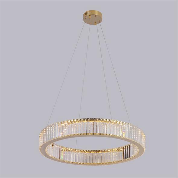 Подвесной светильник Lubbock, Gold Clear glass D82*H12 cm - фото 11109