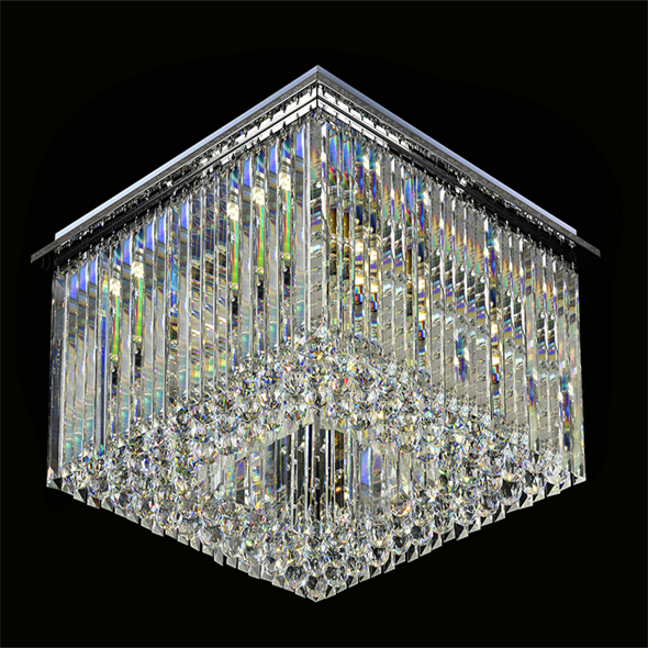 Потолочный светильник Scottsdale, Chrome Clear glass 40*40*H18 cm - фото 11112