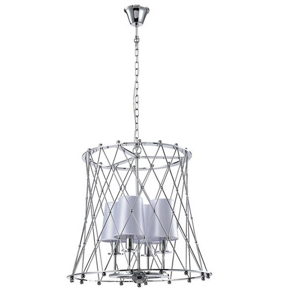 Подвесной светильник American style, Сhrome Shade white D44*H46.8 cm - фото 11125