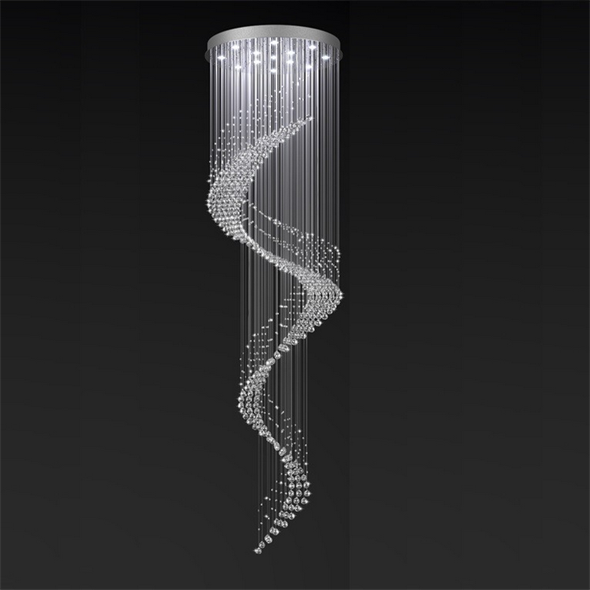 Потолочный светильник American style, Сlear crystal D80*H300 см - фото 11131