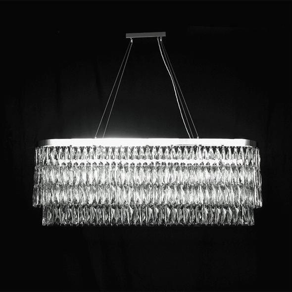 Подвесной светильник Los Angeles, Chrome Clear crystal 122*28*H44 cm - фото 24294