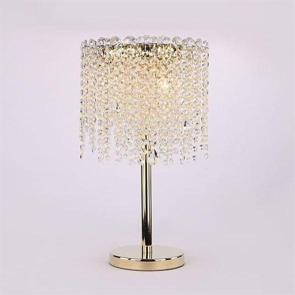 Настольная лампа San Antonio, Polished champagne gold Clear crystal D30*H50 cm - фото 24354