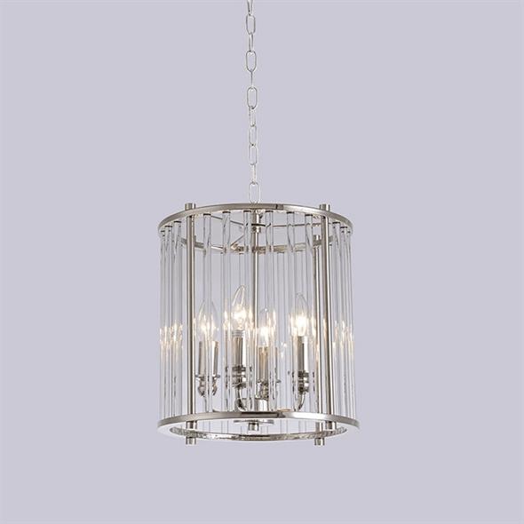 Подвесной светильник San Jose, Nickel Clear crystal D30*H33/133 cm - фото 24420