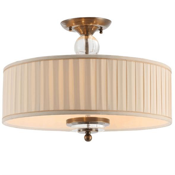 Потолочный светильник Detroit, Black brass Clear glass Shade beige D50*H38 cm - фото 24846