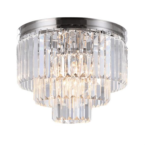 Потолочный светильник Portland, Nickel Clear crystal D40*H32 cm - фото 24867