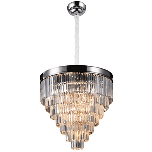 Подвесной светильник Portland, Nickel Clear crystal D80*H57/157 cm - фото 24885