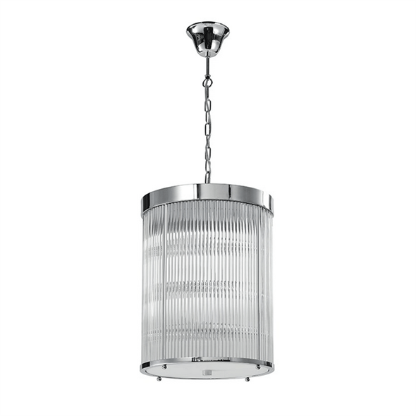 Подвесной светильник Kansas City, Chrome Clear glass D29*H38 сm - фото 25026