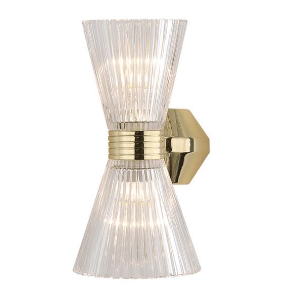 Бра Arlington, Light gold Shade clear glass L16*H27*Sp14 cm - фото 25068