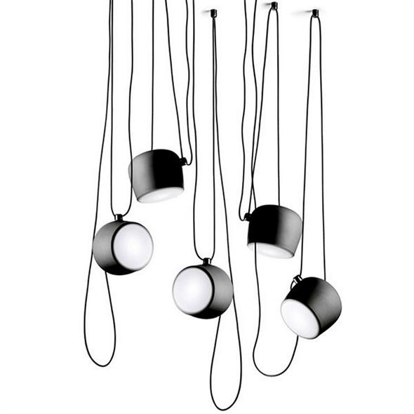 Светильник подвесной Aim 5 Black от  Flos Ronan & Erwan Bouroullec - купить в интернет магазине дизайнерских светильников в Москве и СПб недорого