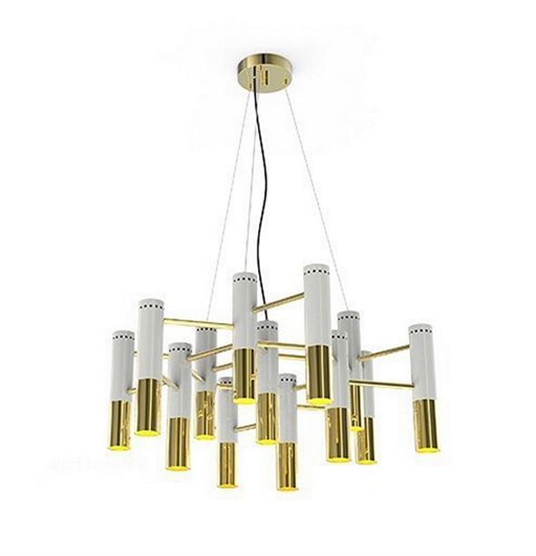Люстра Ike 13 Lamp  Белый+Золотой - фото 5140
