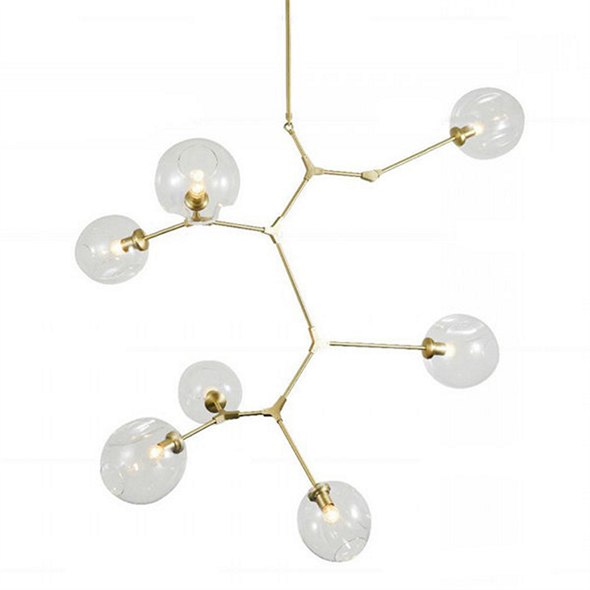 Люстра Branching Bubbles 7 Vertical Gold - фото 5478