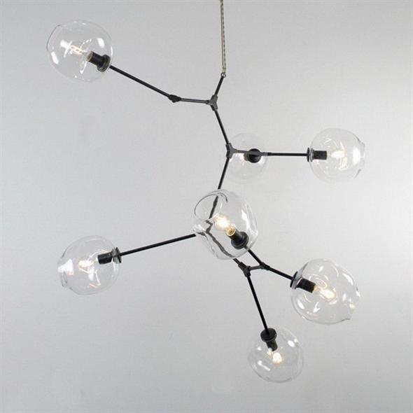 Люстра Branching Bubbles 7 Vertical Black - фото 5481
