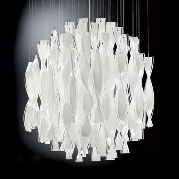 Люстра подвесная Aura Диаметр плафона 60 см Белый - фото 5699