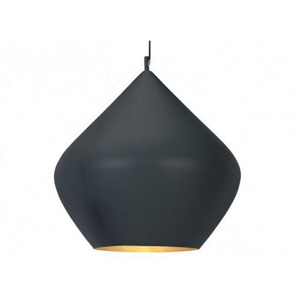 Cветильник Beat Light Stout Black  Диаметр 30 см / Высота 28 см Черный - фото 5727