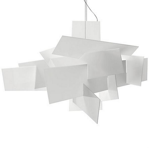 Люстра потолочная, подвесная Big Bang Д 91 см/Ш 91 см/В 64 см Белый - фото 5777