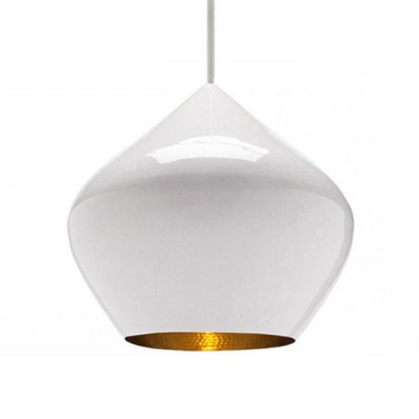 Cветильник Beat Light Stout White Диаметр 30 см / Высота 28 см Белый - фото 5781