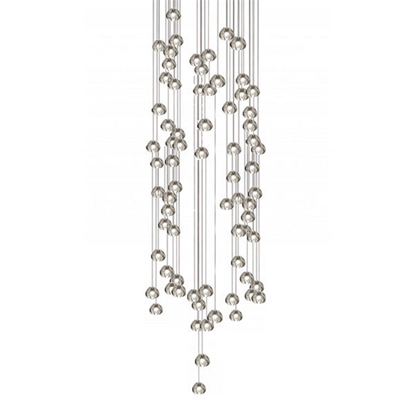 Светильник подвесной Mizu 72 Seventy Two Pendant Chandelier Квадрат / 100 см X 100 см - фото 6256