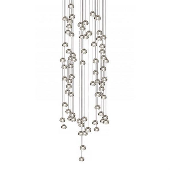 Светильник подвесной Mizu 72 Seventy Two Pendant Chandelier Прямоугольник / 150 см х 45 см - фото 6260