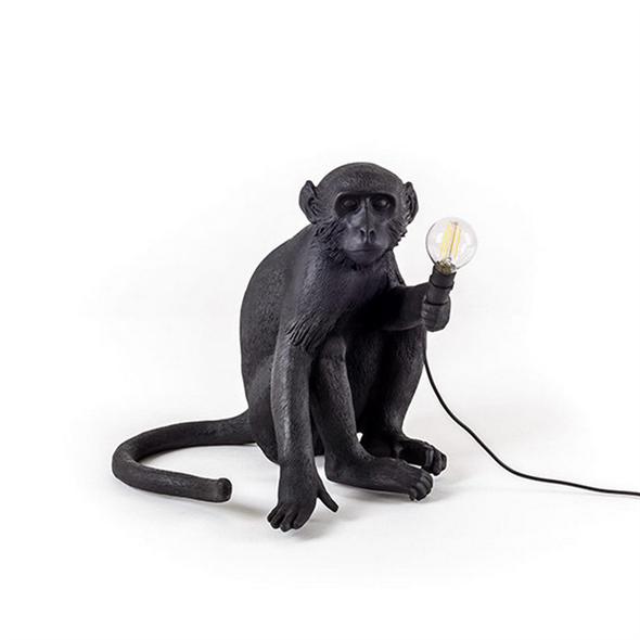 Настольная лампа Обезьяна Monkey Black Table Lamp - фото 7784