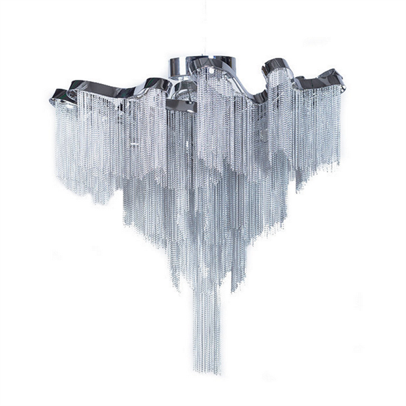 Люстра потолочная Stream Диаметр 60 см / Высота 55 см Cеребряный - фото 7983