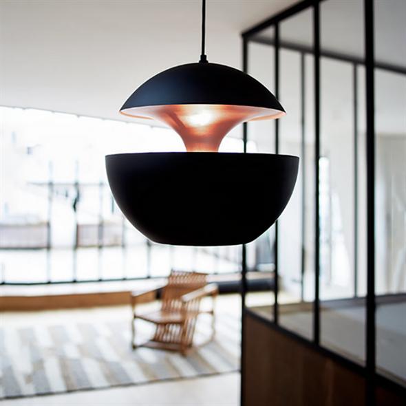 Светильник подвесной Lampe Here Comes The Sun Диаметр 35 см / Высота 33 см Черный + Золотой - фото 8349