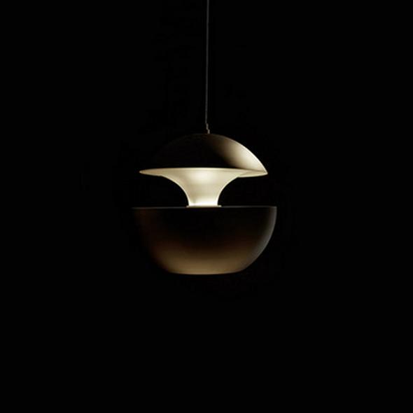 Светильник подвесной Lampe Here Comes The Sun Диаметр 35 см / Высота 33 см Черный + Белый - фото 8362