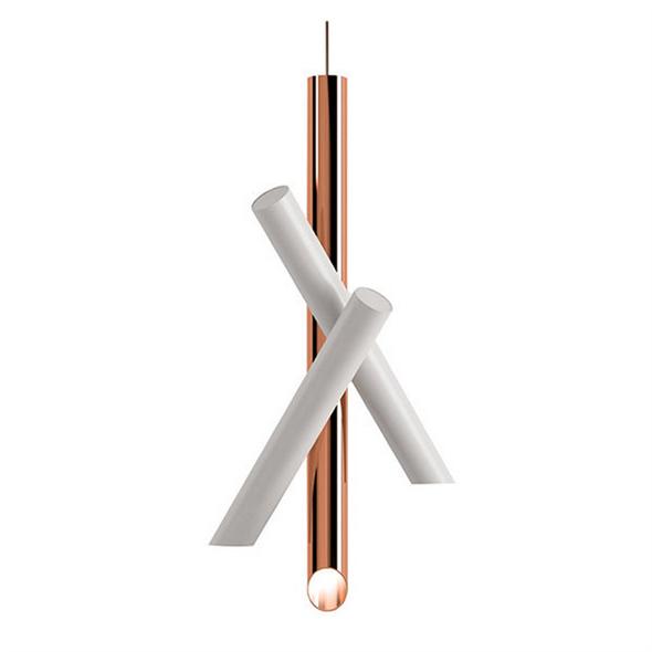 Светильник Tubes 3 White-Copper - фото 8555