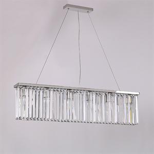 Подвесной светильник New York, Nickel Clear crystal L90*8*H21.5/221.5 cm