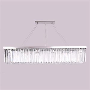 Подвесной светильник New York, Nickel Clear crystal L120*28*H23/223 cm