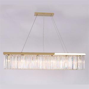 Подвесной светильник New York, Gold Clear crystal L120*28*H23/223 cm